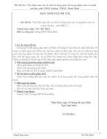 TÌM HIỂU MÀU SẮC VÀ CÁCH SỬ DỤNG MÀU SẮC TRONG MÔN VỄ TRANH CỦA HỌC SINH THCS