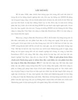 724 Một số giải pháp nhằm hoàn thiện hoạt động Marketing Mix ở Chi nhánh Công ty Dịch vụ du lịch Bến Thành tại Hà Nội