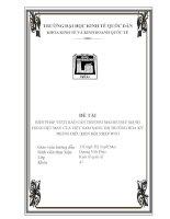 BIỆN PHÁP VƯỢT RÀO CẢN THƯƠNG MẠI ĐỂ ĐẨY MẠNH HÀNG DỆT MAY CỦA VIỆT NAM SANG THỊ TRƯỜNG MỸ TRONG ĐIỀU KIỆN HỘI NHẬP WTO