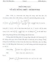 Một số bất đẳng thức thuộc Loại Ostrowski và các áp dụng 9