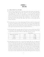 đánh giá triển vọng và hiệu quả đầu tư của dự án công ty liên doanh sản xuất cáp điện
