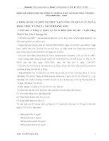 ĐỊNH GIÁ ĐỘNG SẢN TẠI CÔNG TY QUẢN LÝ NỢ VÀ KHAI THÁC TÀI SẢN – SACOMBANK - AMC