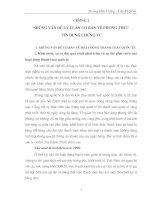 NHỮNG VẤN ĐỀ LÝ LUẬN CƠ BẢN VỀ PHƯƠNG THỨC  TÍN DỤNG CHỨNG TỪ