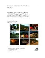 SựthamgiacủaCộngđồng trongGiaothôngNôngthôn