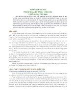 NGHIÊN CỨU CƠ BẢN  TRONG KHOA HỌC XÃ HỘI - NHÂN VĂN