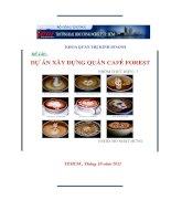 DỰ ÁN XÂY DỰNG QUÁN CAFÉ FOREST