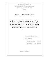 Xây dựng chiến lược cho công ty Kinh đô giai đoạn 2010-2015