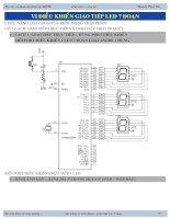 Vi điều khiển giao tiếp LED 7 đoạn