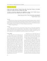 phân tích hiệu quả kỹ thuật cho các trại nuôi tôm sú thương phẩm