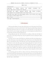 Quản trị chất lượng trong ngành thủy sản Việt Nam