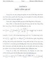 một số bất đẳng thức thuộc loại ostrowski và các áp dụng, chương 0