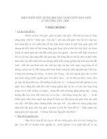 BIỆN PHÁP XÂY DỰNG ĐỘI NGŨ GIÁO VIÊN DẠY GIỎI Ở TRƯỜNG TIỂU HỌC