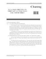 Chuong III - LỰA CHỌN PHƯƠNG ÁN  THIẾT KẾ VÀ TÍNH TOÁN  CHU TRÌNH NHIỆT