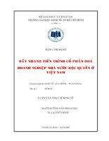 Đẩy nhanh tiến trình cổ phần hóa DNNN độc quyền ở Việt Nam