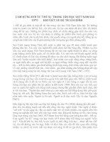 CẢM HỨNG ĐỜI TƯ-THẾ SỰ TRONG VĂN HỌC VIỆT NAM SAU 1975 KHI VIẾT VỀ ĐỀ TÀI GIA ĐÌNH