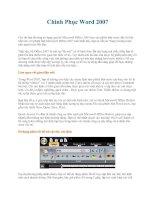 Chinh Phục Word 2007 phần 1