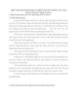 MỘT SỐ GIẢI PHÁP PHÁT TRIỂN NGUỒN NHÂN LỰC TẠI NGÂN HÀNG TMCP NAM Á