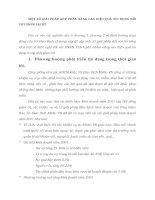 MỘT SỐ GIẢI PHÁP GÓP PHẦN NÂNG CAO HIỆU QUẢ TÍN DỤNG ĐỐI VỚI DNNN TẠI SỞ