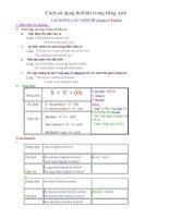 Tong hop cac thi trong Tieng Anh (12 thi)