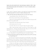 MỘT SỐ GIẢI PHÁP ĐẨY MẠNH HOẠT ĐỘNG TIÊU THỤ SẢN PHẨM BAO BÌ  PP Ở CÔNG TY VẬT TƯ HÀNG HOÁ VÀ VẬN TẢI
