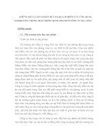 NHỮNG KẾT LUẬN CƠ BẢN RÚT RA QUA NGHIÊN CỨU ỨNG DỤNG MARKETING TRONG HOẠT ĐỘNG KINH DOANH Ở CÔNG TY HẠ LONG