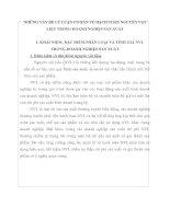 NHỮNG VẤN ĐỀ LÝ LUẬN CƠ BẢN VỀ HẠCH TOÁN NGUYÊN VẬT LIỆU TRONG DOANH NGHIỆP SẢN XUẤT