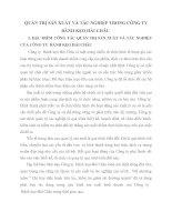 QUẢN TRỊ SẢN XUẤT VÀ TÁC NGHIỆP TRONG CÔNG TY  BÁNH KẸO HẢI CHÂU