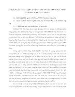 THỰC TRẠNG CHẤT LƯỢNG TÍN DỤNG ĐỐI VỚI CÁC DNVVN TẠI  NHNO VÀ PTNT CHI NHÁNH LÁNG HẠ