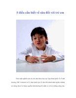 5 điều cần biết về sữa đối với trẻ em