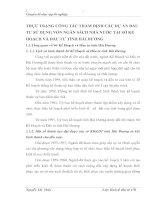 THỰC TRẠNG CÔNG TÁC THẨM ĐỊNH CÁC DỰ ÁN ĐẦU TƯ SỬ DỤNG VỐN NGÂN SÁCH NHÀ NƯỚC TẠI SỞ KẾ HOẠCH VÀ ĐẦU TƯ TỈNH HẢI DƯƠNG