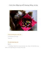 Cách làm Hộp kẹo dễ thương bằng vải dạ