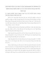 GIẢI PHÁP NÂNG CAO CHẤT LƯỢNG THẨM ĐỊNH TÀI CHÍNH DỰ ÁN TRONG HOẠT ĐỘNG CHO VAY CỦA NGÂN HÀNG NGOẠI THƯƠNG VIỆT NAM