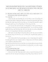 MỘT SỐ GIẢI PHÁP NHẰM NÂNG CAO CHẤT LƯỢNG TÍN DỤNG XUẤT NHẬP KHẨU TẠI CHI NHÁNH NGÂN HÀNG CÔNG THƯƠNG KHU VỰC  ĐỐNG ĐA