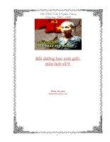 Tài liệu BD HSG Sử 9