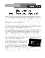 Sharpening Your Personal Appeal
