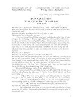 bài diễn văn lễ kỉ niệm ngày nhà giáo việt nam 20-11