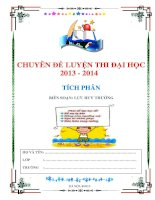 Chuyên đề tích phân ôn thi đại học môn toán 2013 TÍCH PHÂN