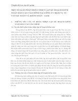 MỘT SỐ GIẢI PHÁP HOÀN THIỆN LẬP KẾ HOẠCH KIỂM TOÁN BÁO CÁO TÀI CHÍNH TẠI CÔNG TY DỊCH VỤ TƯ VẤN KẾ TOÁN VÀ KIỂM TOÁN - AASC