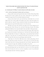 PHÂN TÍCH HIỆU QỦA KINH DOANH CỦA CÔNG TY KINH DOANH NƯỚC SẠCH HÀ NỘI