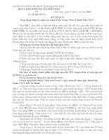 Kế hoạch tổ chức hoạt động nhân các ngày lễ lớn trong Năm Thanh Niên 2011