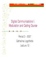 Modulation and coding course- lecture 10