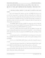CÁC GIẢI PHÁP NHẰM NÂNG CAO CÔNG TÁC THU VÀ QUẢN LÝ THU QUỸ BHXH HUYỆN Mỹ ĐỨC, TỈNH HÀ TÂY