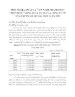 MỘT SỐ GIẢI PHÁP VÀ KIẾN NGHỊ NHẰM HOÀN THIỆN HOẠT ĐỘNG XUẤT KHẨU CỦA CÔNG TY CP XNK TẠP PHẨM TRONG THỜI GIAN TỚI