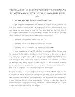 THỰC TRẠNG RỦI RO TÍN DỤNG TRONG HOẠT ĐỘNG TÍN DỤNG TẠI NGÂN HÀNG ĐẦU TƯ VÀ PHÁT TRIỂN ĐỒNG THÁP  PGD SA ĐÉC