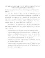 CÁC GIẢI PHÁP HOÀN THIỆN VÀ PHÁT TRIỂN HOẠT ĐỘNG CỦA CÔNG TY TNHH CHỨNG KHOÁN NHNO VÀ PTNT VN