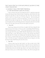 THỰC TRẠNG CÔNG TÁC TUYỂN DỤNG NHÂN SỰ TẠI CÔNG TY TNHH TM&DV MINH PHƯƠNG