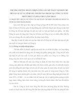 PHƯƠNG HƯỚNG HOÀN THIỆN CÔNG TÁC KẾ TOÁN TẬP HỢP CHI PHÍ SẢN XUẤT VÀ TÍNH GIÁ THÀNH SẢN PHẨM TẠI CÔNG TY SUPE PHỐT PHÁT VÀ HOÁ CHẤT LÂM THAO