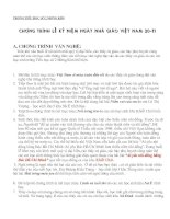 Chương trình kỷ niệm ngày nhà giáo Việt Nam 20-11