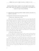 ĐỊNH HƯỚNG PHÁT TRIỂN VÀ CÁC BIỆN PHÁP THÚC ĐẨY TIÊU THỤ SẢN PHẨM VÀ TĂNG DTTT TẠI CÔNG TY VẬT TƯ  VẬN TẢI  XI MĂNG