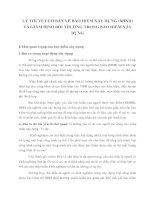 LÝ THUYẾT CƠ BẢN VỀ BẢO HIỂM XÂY DỰNG (BHXD) VÀ GIÁM ĐỊNH BỒI THƯỜNG TRONG BẢO HIỂM XÂY DỰNG